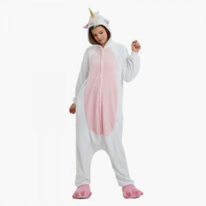 Adult Cartoon Flannel Unisex Golden Unicorn Onesie Animal Onesies Anime Kigurumi Costume Pajamas Sets KT097