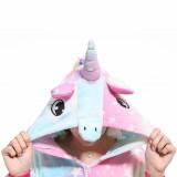 Adult Cartoon Flannel Unisex Sky Unicorn Onesie Animal Onesies Anime Kigurumi Costume Pajamas Sets KT100
