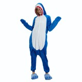 Adult Cartoon Flannel Unisex Shark Onesie Animal Onesies Anime Kigurumi Costume Pajamas Sets KT099