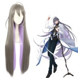 100cm Long Straight Gray&Purple Mixed Hypnosis Mic Cosplay Jakurai Jinguji Anime Wig Synthetic Hair Wigs CS-383K