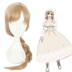 65cm Long Light Flaxen Hataraku Saibou Anime Cells at Work Macrophage Wig Synthetic Braid Hair Cosplay Wig CS-380E