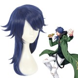45cm Medium Long Blue  Hypnosis Mic Cosplay Dice Arisugawa Wig Synthetic Anime Hair Wigs CS-383E