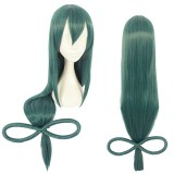 100cm Long Straight Dark Green My Hero Academia Wig Asui Tsuyu Synthetic Anime Cosplay Wigs CS-384A