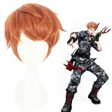 30cm Short Orange Hypnosis Mic Busujima Meison Riou Wig Cosplay Synthetic Anime Hair Wigs CS-383J
