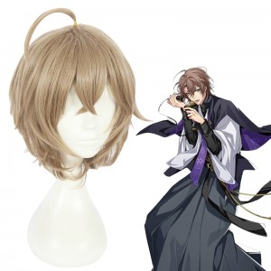 30cm Short Flaxen Hypnosis Mic Anime Gentarou Yumeno Wig Synthetic Hair Cosplay Wigs CS-383G