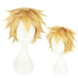 30cm Short Blonde Hataraku Saibou Anime Cells at Work Killer T Cell Wig Synthetic Hair Cosplay Wig CS-380D