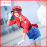 Cells At Work Anime Cosplay Costume Erythrocytes Costume Hataraku Saibou Women Cosplay Uniform Full Sets COS-200