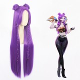 100cm Long Purple League of Legends LOL KDA Kaisa Wig Synthetic Anime Cosplay Wig CS-394B