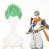 30cm Short Green Overwatch Cosplay Shimada Genji Wig Stnthetic Anime Hair Wigs CS-396A