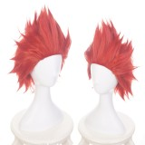 35cm Short Red My Hero Academia Anime Kirishima Eijirou Wig Synthetic Hair Cosplay Wigs CS-384F