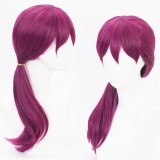 60cm Long Curly Dark Rose Mixed  League of Legends LOL KDA Evelynn Synthetic Anime Cosplay Wig CS-119J