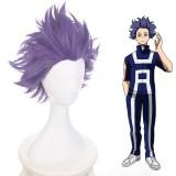 35cm Short Purple My Hero Academia Shisen Hitoshi Wig Synthetic Anime Cosplay Wigs CS-384E