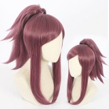 45cm Medium Long Taro LOL KDA Akali Wig Synthetic Anime Cosplay Wigs With One Ponytail CS-394C