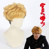 30cm Short Curly Blonde&Black Kyou Kara Ore Wa Cosplay Takashi Mitsuhashi Synthetic Anime Wig CS-397A