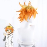 35cm Short Yellow Orange Mixed Wig The Promised Neverland Emma Wig Synthetic Anime Cosplay Wig CS-399A