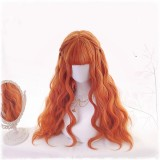 70cm Long Curly Orange Hair Wig Synthetic Anime Cosplay Lolita Wig CS-820A