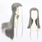 80cm Long Straight Gray Guardian Zhu Yilong Wig Synthetic Anime Cosplay Wigs CS-400A