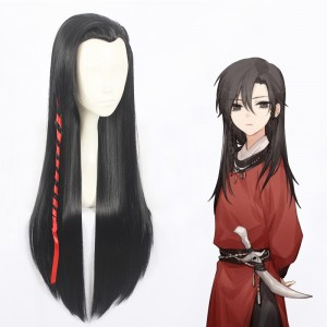 80cm Long Straight Black Heavenly God Blesses The People Anime Wig Synthetic Cosplay Wigs CS-401B