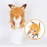 35cm Short Orange Mixed The Helpful Fox Senko San Senko Wig Synthetic Anime Cosplay Wigs CS-473A