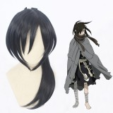 50cm Long Blue&Black Mixed  Dororo Hyakkimaru Wig Synthetic Anime Cosplay Wigs CS-474A