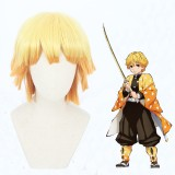 30cm Short Orange Mixed Demon Slayer Agatsuma Zenitsu Wig Synthetic Anime Cosplay Wigs CS-471B