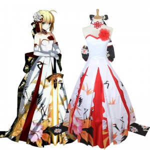 Fate/Grand Order Cosplay Costume Saber Anime Costume Lolita Dress COS-192