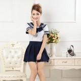 New Anime Costumes School Unfirm Clothes For Girls Navy Blue Sailor Suit Dress Lolita Maid Dress DS002