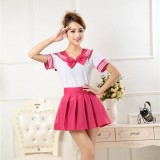 New Anime Costumes School Unfirm Clothes For Girls Rose Sailor Suit Dress Lolita Maid Dress DS006