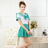 New Anime Costumes School Unfirm Clothes For Girls Green Sailor Suit Dress Lolita Maid Dress DS005