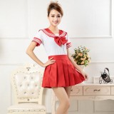 New Anime Costumes School Unfirm Clothes For Girls Red Sailor Suit Dress Lolita Maid Dress DS004