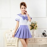 New Anime Costumes School Unfirm Clothes For Girls Purple Sailor Suit Dress Lolita Maid Dress DS007