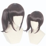 40cm Medium Long Brown Demon Slayer Cosplay Tsuyuri Kanawo Wig Synthetic Anime Wigs With One Ponytail CS-471L