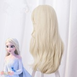 65cm Long Curly Beige Frozen II Wig Elsa Princess Anime Hair Synthetic Cosplay Wigs CS-135C