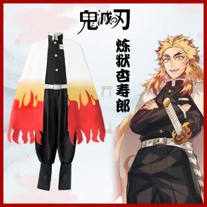 2019 New Demon Slayer Anime Rengoku Kyoujurou Costume Halloween Cosplay Costumes COS-327