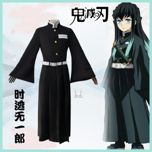 2019 New Demon Slayer Anime Tokitou Muichirou Costume Halloween Cosplay Costumes COS-325