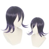 35cm Short Black&Purple Mixed Danganronpa V3 Anime Ouma Kokichi Wig Synthetic Cosplay Hair Wigs CS-420A