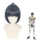 30cm Short Black&Blue Mixed JoJo's Bizarre Adventure Bruno Bucciarati Wig Synthetic Anime Cosplay Hair Wigs CS-419A