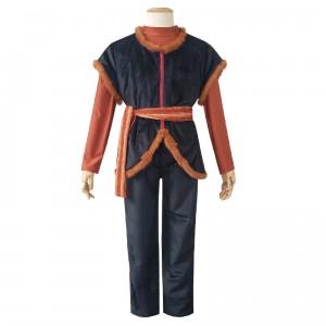 Full Set 2019 New Movie Frozen II Anime Costume Kristoff Uniform Cloth Halloween Party Cosplat Costume COS-339