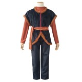Full Set 2019 New Movie Frozen II Anime Costume Kristoff Uniform Cloth Halloween Party Cosplat Costume COS-339