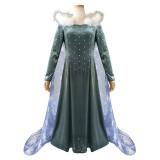 Full Set 2019 New Movie Frozen II Elsa Queen Costume Lolita Dress Halloween Party Cosplay Costumes COS-341