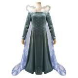 Full Set 2019 New Movie Frozen II Elsa Queen Costume Lolita Dress Halloween Party Cosplay Costumes COS-341