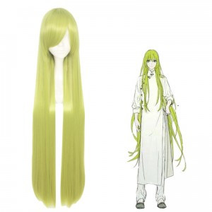 100cm Long Straight Green TouHou Project Cosplay Cirno Wig Synthetic Anime Hair Wigs CS-035Z