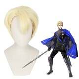 30cm Short Light Yellow Fire Emblem: ThreeHouses Dimitri Wig Synthetic Anime Cosplay Wigs CS-422A