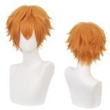 30cm Short Straight Orange Toilet Bound Hanako kun Kouji Wig Synthetic Anime Cosplay Wigs CS-429A