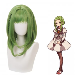 40cm Medium Long Green Mixed Toilet Bound Hanako kun Nanamine Sakura Wig Synthetic Anime Cosplay Wigs CS-426A