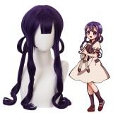 60cm Long Curly Purple Toilet Bound Hanako kun Akane Aoi Wig Synthetic Anime Cosplay Wigs CS-427A
