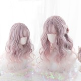 50cm Long Curly Pink Purple Mixed Hair Wig Synthetic Anime Cosplay Wig Lolita Wigs CS-822A