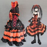 High Quality Date A Live Anime Costume Tokisaki Kurumi Cosplay Costume Lolita Halloween Party Dress COS-344