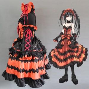 High Quality Date A Live Anime Costume Tokisaki Kurumi Cosplay Costume Lolita Halloween Party Dress COS-344