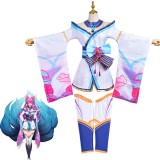 2020 New High Quality LOL Spirit Blossm Anime Costume League of Legends KDA Ahri Cosplay Costumes COS-345